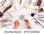 post blog social media... | Shutterstock . vector #374726560