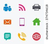 contact  mail icons.... | Shutterstock .eps vector #374734618