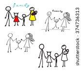 vector  happy family | Shutterstock .eps vector #374736313