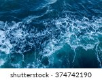 blue sea texture with waves and ... | Shutterstock . vector #374742190