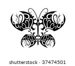 jpeg version. isolated tattoo... | Shutterstock . vector #37474501