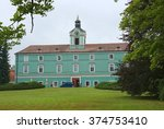 castle dacice  czech republic ... | Shutterstock . vector #374753410