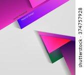 vector polygonal material... | Shutterstock .eps vector #374757928