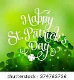 vector happy saint patricks day ... | Shutterstock .eps vector #374763736