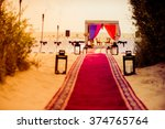 famous destination wedding... | Shutterstock . vector #374765764