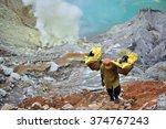 kawah ijen  indonesia  ...   Shutterstock . vector #374767243