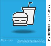 burger and drink vector icon.... | Shutterstock .eps vector #374768488