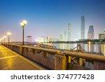 night skyline and modern... | Shutterstock . vector #374777428