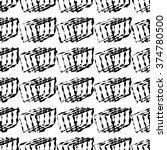 ethnic boho black and white... | Shutterstock .eps vector #374780500