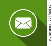 mail envelope flat icon with...