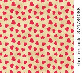 abstract background with hearts.... | Shutterstock .eps vector #374784088