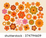 Stock vector vintage flowers 374794609