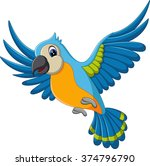 illustration of cartoon macaw... | Shutterstock .eps vector #374796790