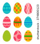 Easter Eggs Vector Icons Flat...
