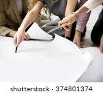 designer thinking ideas... | Shutterstock . vector #374801374