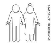 elder people icon illustration... | Shutterstock .eps vector #374801998