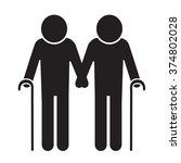 elder people icon illustration... | Shutterstock .eps vector #374802028