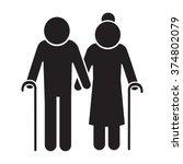elder people icon illustration... | Shutterstock .eps vector #374802079