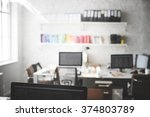 contemporary room workplace... | Shutterstock . vector #374803789