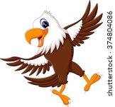 cartoon bald eagle standing... | Shutterstock . vector #374804086