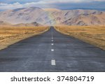 road in the middle of the... | Shutterstock . vector #374804719