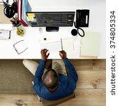 businessman working office... | Shutterstock . vector #374805334