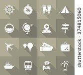 vector flat icon set   travel  | Shutterstock .eps vector #374815060