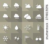 vector flat icon set   weather