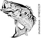 vector fish illustration | Shutterstock .eps vector #374815129