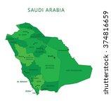 saudi arabia regions with names ... | Shutterstock .eps vector #374816659