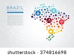 brazil dotted vector background | Shutterstock .eps vector #374816698