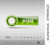 green modern plastic button... | Shutterstock .eps vector #374825623