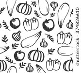 vector hand drawn doodle food... | Shutterstock .eps vector #374826610