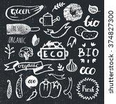 ink logotypes set. badges ... | Shutterstock .eps vector #374827300