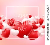 happy valentine's day... | Shutterstock .eps vector #374829274