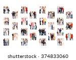 achievement idea united company  | Shutterstock . vector #374833060
