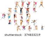 big group winning idea  | Shutterstock . vector #374833219