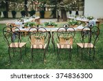 wedding. banquet. chairs and... | Shutterstock . vector #374836300