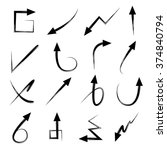 hand drawn arrows set  isolated ... | Shutterstock .eps vector #374840794
