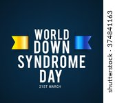 world down syndrome day. | Shutterstock .eps vector #374841163