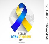 world down syndrome day. | Shutterstock .eps vector #374841178
