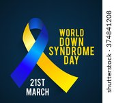 world down syndrome day. | Shutterstock .eps vector #374841208