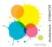 abstract watercolor art paint... | Shutterstock .eps vector #374844739