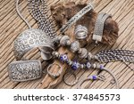 collection of antique... | Shutterstock . vector #374845573