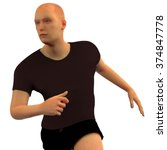 Human Male Body  Running