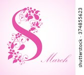 8 march  international women's... | Shutterstock .eps vector #374855623