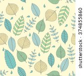 vector seamless pattern in soft ... | Shutterstock .eps vector #374855860