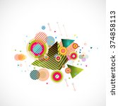 abstract mix colorful... | Shutterstock .eps vector #374858113