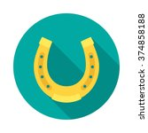 horseshoe circle icon with long ... | Shutterstock .eps vector #374858188