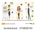 business characters set | Shutterstock .eps vector #374858743